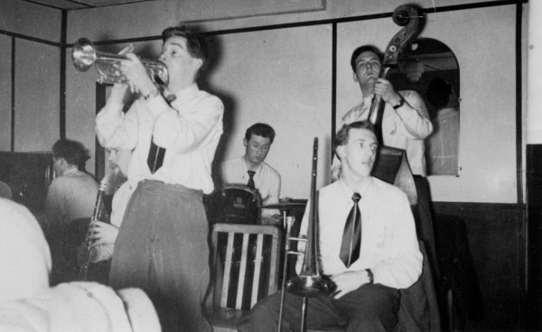 Bluenote Jazz Band, Queen's Cafe, Queen St, Manchester, 1950