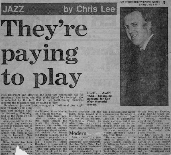 Manchester Evening News 1st July 1977